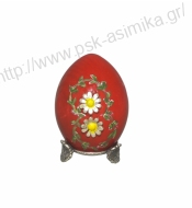 WOODEN EASTER EGG DAISIES